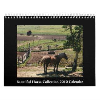 Calendario hermoso del caballo 2010