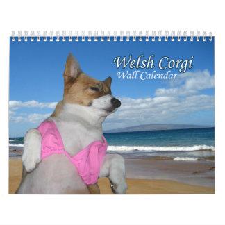 Calendario hermoso del Corgi Galés