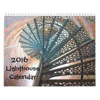 Calendario hermoso del faro 2016