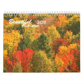 Calendario hermoso del otoño 2011