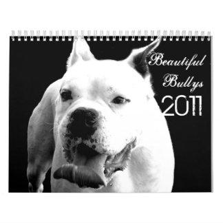Calendario hermoso del perro de Bullys 2011