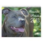Calendario hermoso del perro de Pitbulls 2013
