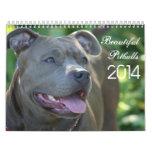 Calendario hermoso del perro de Pitbulls 2014