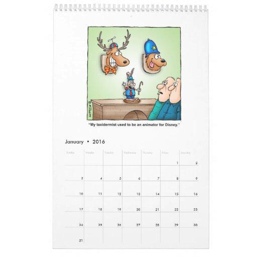Calendario hilarante del dibujo animado de la caza