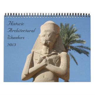 calendario histórico de las maravillas 2013