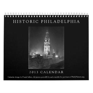 Calendario histórico de Philadelphia 2013