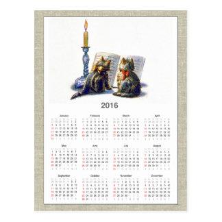 Calendario II de los gatos 2016 del Victorian del Postales