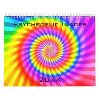 Calendario: Ilustraciones abstractas/psicodélicas Calendarios