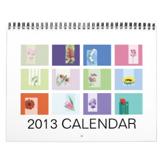 Calendario ilustrado de 2013 flores