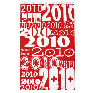 Calendario ilustrado Papercut de 2010 animales