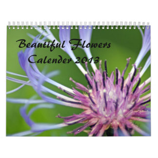 calendario imponente 2013 de las flores