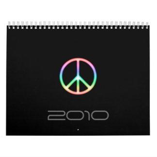 Calendario impresionante 2010 del símbolo de paz