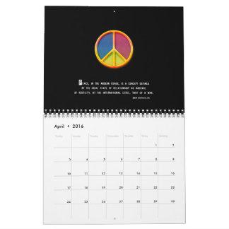 Calendario impresionante 20xx de la paz