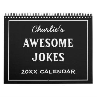 Calendario impresionante del personalizado de los