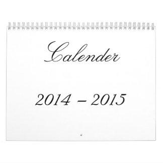 Calendario impreso 2014-15 pintoresco estacional