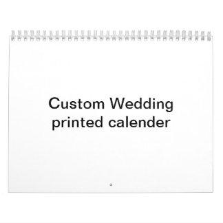 Calendario impreso boda de encargo