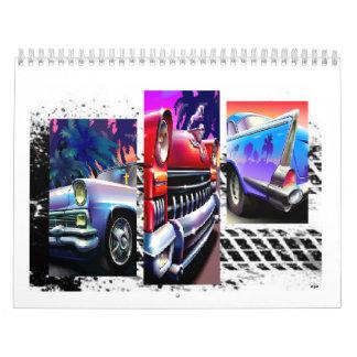 Calendario impreso coches clásicos de encargo