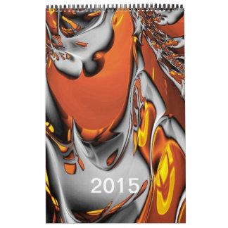 Calendario impreso del fractal 2015 especiales
