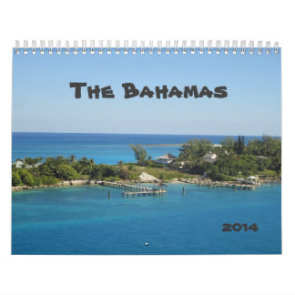 Calendario impreso personalizado de Bahamas