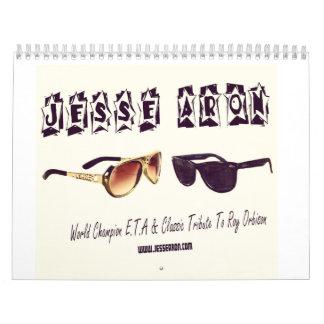 Calendario impreso personalizado de Jesse Aron