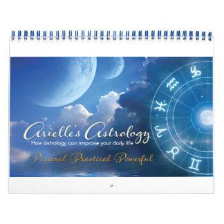 Calendario impreso personalizado de la astrología