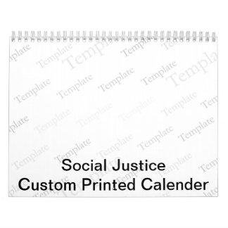 Calendario impreso personalizado de la justicia