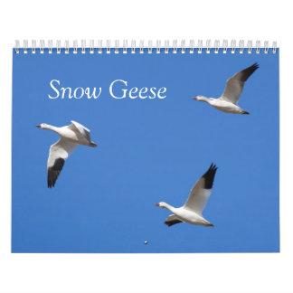Calendario impreso personalizado de los gansos de