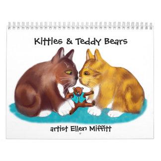 Calendario impreso personalizado de los gatitos y