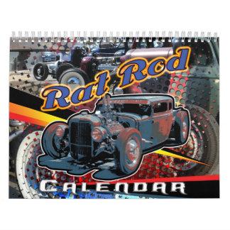 Calendario impreso personalizado de Rod de la rata
