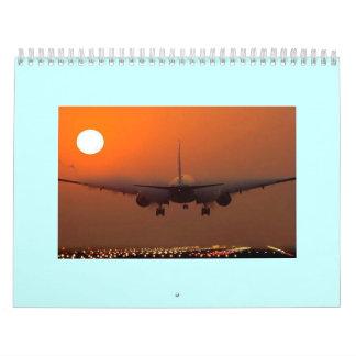 Calendario impreso personalizado del AEROPLANO
