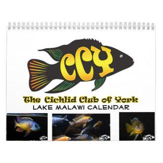 Calendario impreso personalizado del Cichlid de