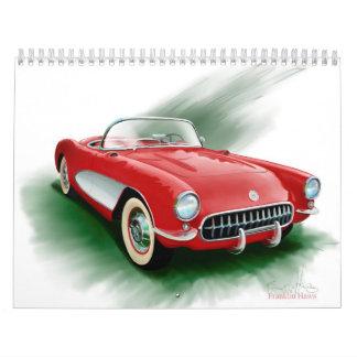 Calendario impreso personalizado del Corvette