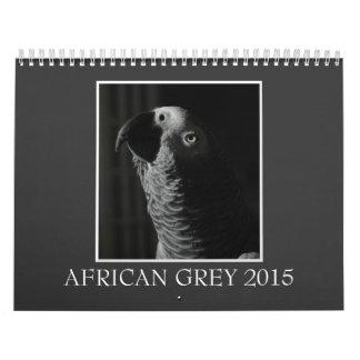 Calendario impreso personalizado del loro 2015 del