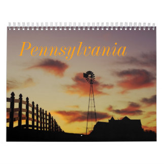 Calendario impreso personalizado escénico de las