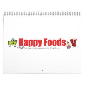 Calendario impreso personalizado feliz de las comi