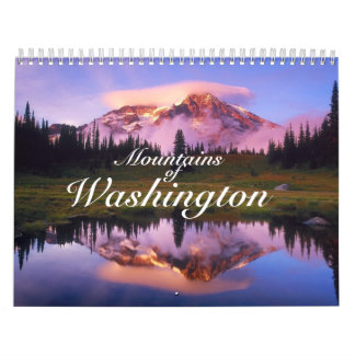 """Calendario impreso personalizado """"montañas de Wash"""