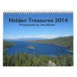 Calendario impreso personalizado - tesoros ocultad