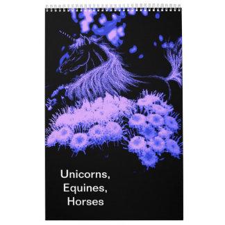 Calendario impreso personalizado, UNICORNIOS, EQUI
