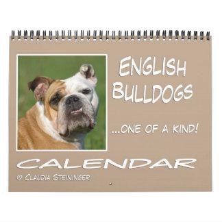 Calendario inglés 2011 del dogo