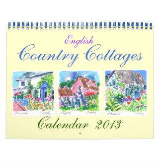 Calendario inglés de las cabañas 2013 del país