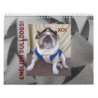 ¡Calendario inglés de los dogos y de los perritos!