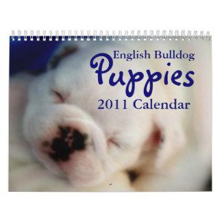 Calendario inglés de los perritos 2011 del dogo