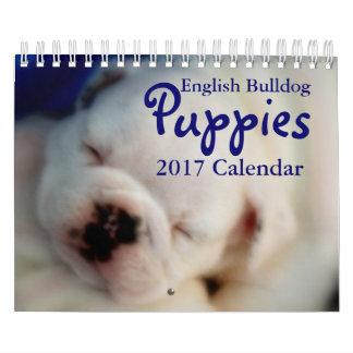 Calendario inglés de los perritos 2017 del dogo