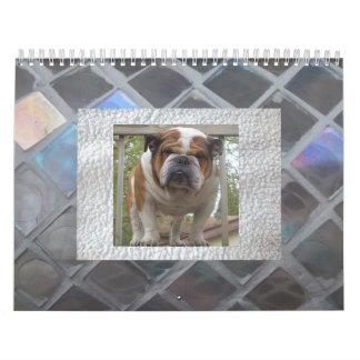 Calendario inglés del dogo