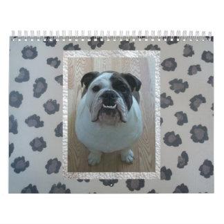¡Calendario inglés del dogo! Calendario