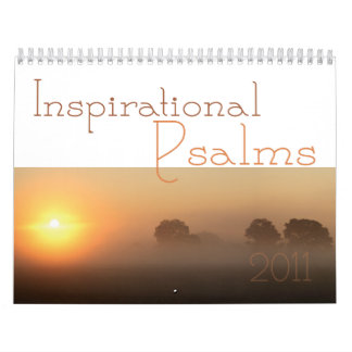 Calendario inspirado 2011 de la escritura de los s