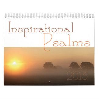 Calendario inspirado 2013 de la escritura de los s