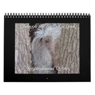 Calendario inspirado 2014 de la cabra de las citas