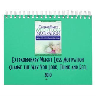 Calendario inspirado de la pérdida de peso