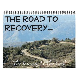 Calendario inspirado de la recuperación